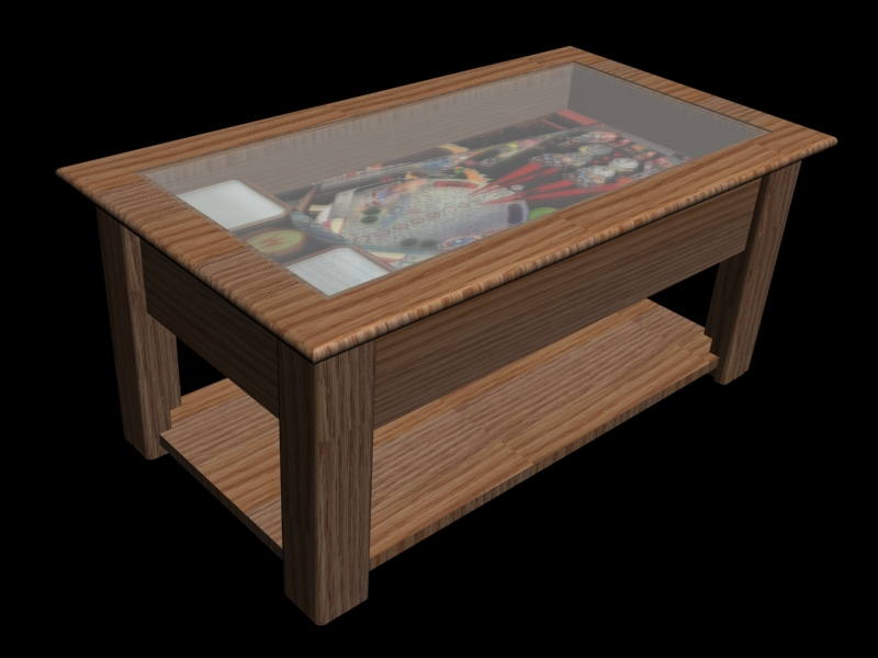 Firepower Pinball Coffee Table